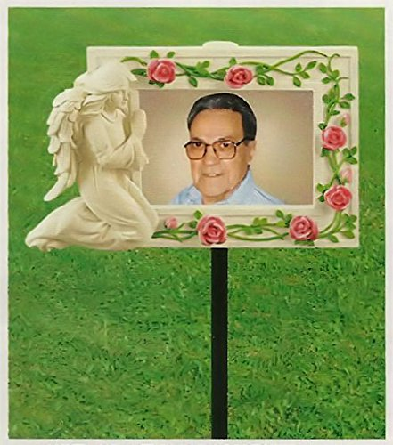 Ceramic Memorial Angel Grave Marker Photo Frame (Picture Markers compare prices)