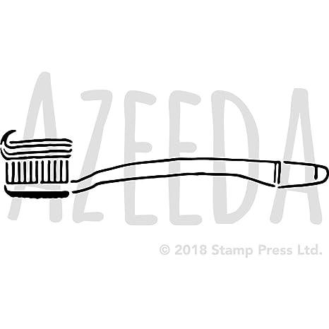 Grande A2 Cepillo de Dientes Plantilla de Pared / Estarcir (WS00018578)