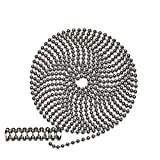 10 Foot Length Ball Chain, 10 Size, Nickel Plated Steel, 10 Matching 'B' Couplings