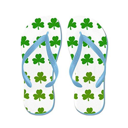 CafePress Shamrock Wallpaper Texture - - Flip Flops, Funny Thong Sandals, Beach Sandals Caribbean Blue