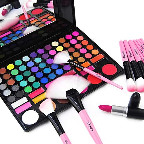 Daxstar Makeup Brushes 32pcs, Premium Pink Brush Set for Full Make-up Blush Concealer Highlight Contour Lip Brush Multiple Style Girlish Beauty Tools Portable Travel Set