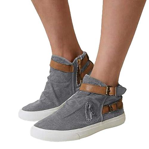 Juleya Zapatillas sin Cordones para Mujer Zapatillas Planas con tacón bajo Mocasines cómodos Oficina de conducción Deporte Zapatos para Caminar: Amazon.es: ...