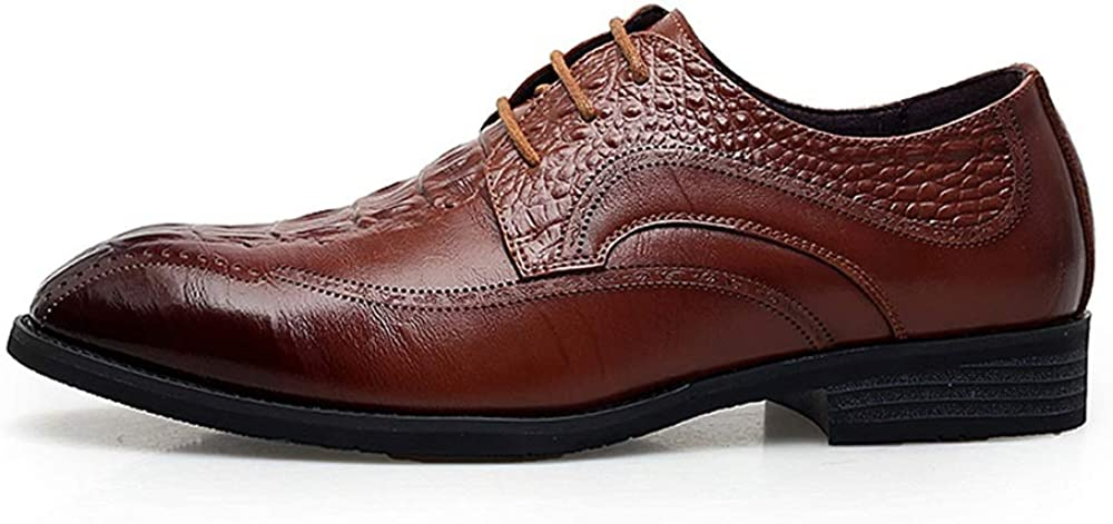 2019 Mens Oxfords Mens Comfortable Low Top Personality Stitching Retro Formal Shoes Fashion Oxford Casual