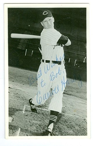 Hardy Signed Baseball - Carroll Hardy Signed Cleveland Indians Post Card