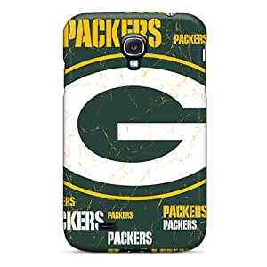 Bumper Hard Phone Cases For Samsung Galaxy S4 (zgQ6840Aivy) Customized Colorful Green Bay Packers Pattern
