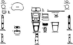 Rvinyl Rdash Dash Kit Decal Trim for Subaru WRX 2005-2007 - Chrome (Silver)