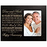 Personalized 45th Year Wedding Anniversary Frame Gift for Couple 45th Anniversary Gifts for Her 45th Wedding Anniversary Gifts for Him Frame Holds 1 4x6 Photo 8'' H X 10'' W (Black)