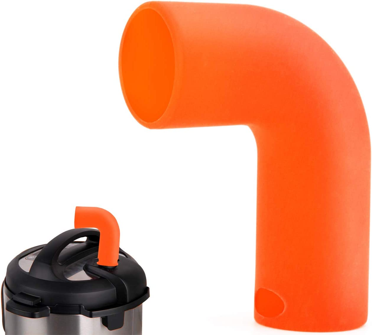 Steam Release Accessory Fits Instant pot 3, 5, 6, 8 Qt Duo & Smart Models Only, Made By High Grade Food Silicone,Helps Protect Cabinets-Orange