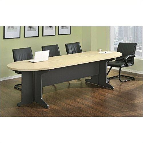Altra Pursuit Large Conference Table Bundle, Natural/Gray