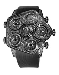 Metallic Dials 7.1ct Black Diamonds 47mm Watch