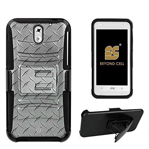 sire 610(AT&T,International,Prepaid) Durable Shell Case Combo With Design Dual Layer Premium Protection High Impact Rugged Hard +Soft (Silicone) Hybrid Rugged Protective Case with Built in Kickstand and Belt Clip Holster - White Diamond Plate Steel Design - Retail Packaging ()