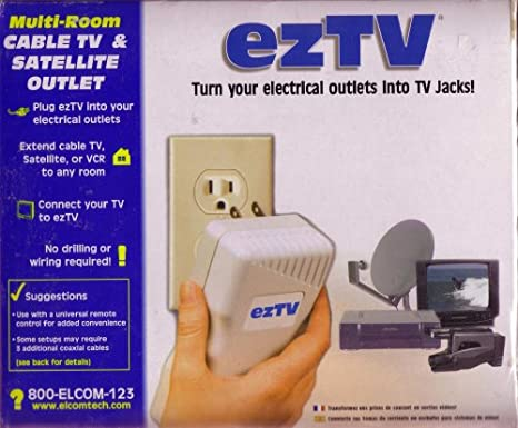 Amazon.com: Eztv - Turn Your Electrical Outlets Into Tv Jacks ...