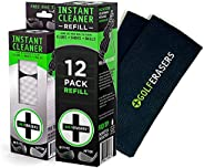 GolfERASERS One (1) 6-Pack with Tether; One (1) 12-Pack Refill; One (1) Premium Embroidered Golf Towel w/Clip