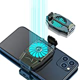 picK-me Cell Phone Cooler, Mobile Phone Radiator for Playing Games Watching Videos with LED Light, Cooler Controller Compatible for Universal iPhone/Android Smartphone (Shade) (Color: Shade)