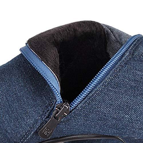 Denim Stivali Moda Blue Coolcept Tacco Donne Alto Light 1X4I4w