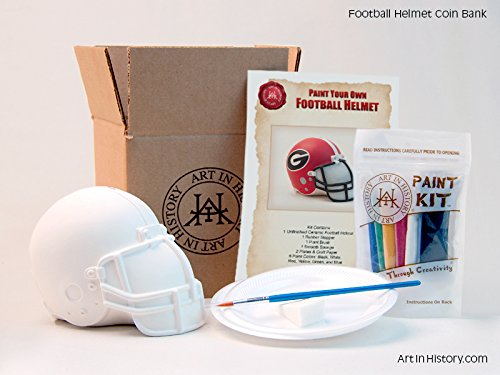 (Art In History Paint Your Own Football Helmet Coin Bank)