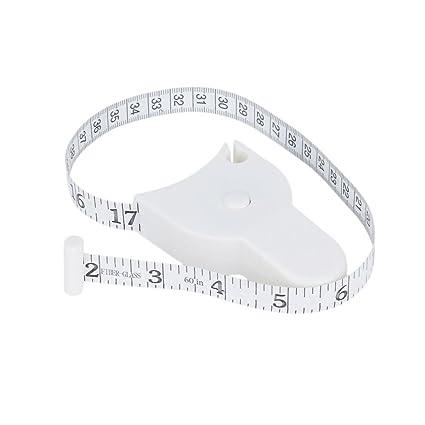 White 1.5m Fitness Accurate Body Fat Caliper Measuring Body Tape Ruler Measure Tape Measure White Body Fat Caliper