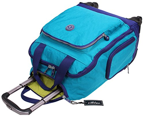 Free Shipping Iblue Nylon Rolling Wheeled Bag Carry On
