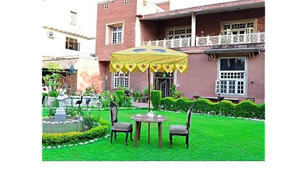 Lalhaveli Sombrilla de jardín cuadrada con diseño de elefante ...