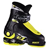 Roces 2018 Idea Adjustable Black/Lime Kid's Ski Boots 16.0-18.5