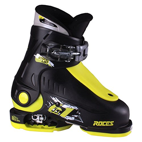 Roces 2018 Idea Adjustable Black/Lime Kid's Ski Boots 16.0-18.5 by Roces