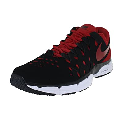 1f9d385a69 ... s Shoes; NIKE Mens Lunar Fingertrap TR 4E, Black Gym RED-White, 10 Wide  ...