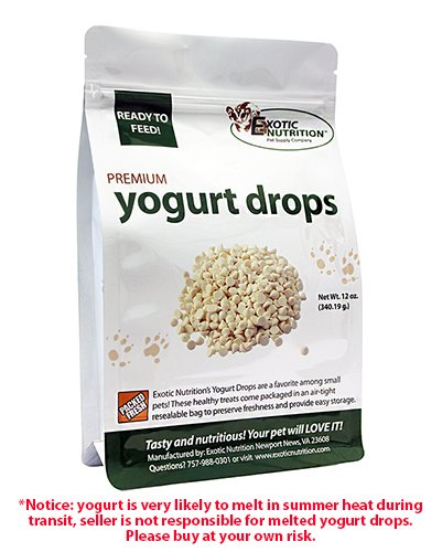 Yogurt Drops 12 oz. - Treat for Sugar Gliders, Prairie Dogs, Monkeys, Squirrels, Guinea Pigs, Rabbits