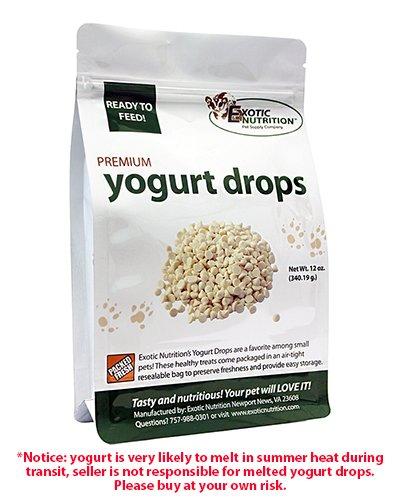 Yogurt Drops 12 oz. - Treat for Sugar Gliders, Prairie Dogs, Monkeys, Squirrels, Guinea Pigs, (Dog Yogurt Drops)