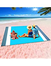 Beach Blanket,Picnic Mat Sandproof Oversized 79''×83'' Waterproof Large Lightweight Sandproof Beach Blankets for 4-7 Adults for Travel Camping Hiking Outdoor…