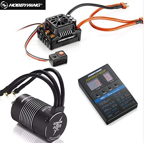 Thunder Tiger Rc - Hobbywing EzRun Max8 v3 150A Waterproof Brushless ESC T Plug 4268 KV2600 Motor LED Programing for 1/8 RC Car Truck