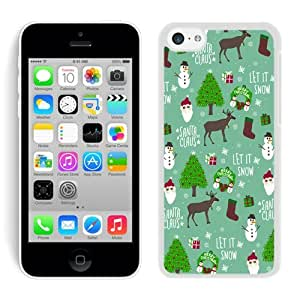 Personalization Iphone 5C TPU Case Merry Christmas White iPhone 5C Case 18 by icecream design