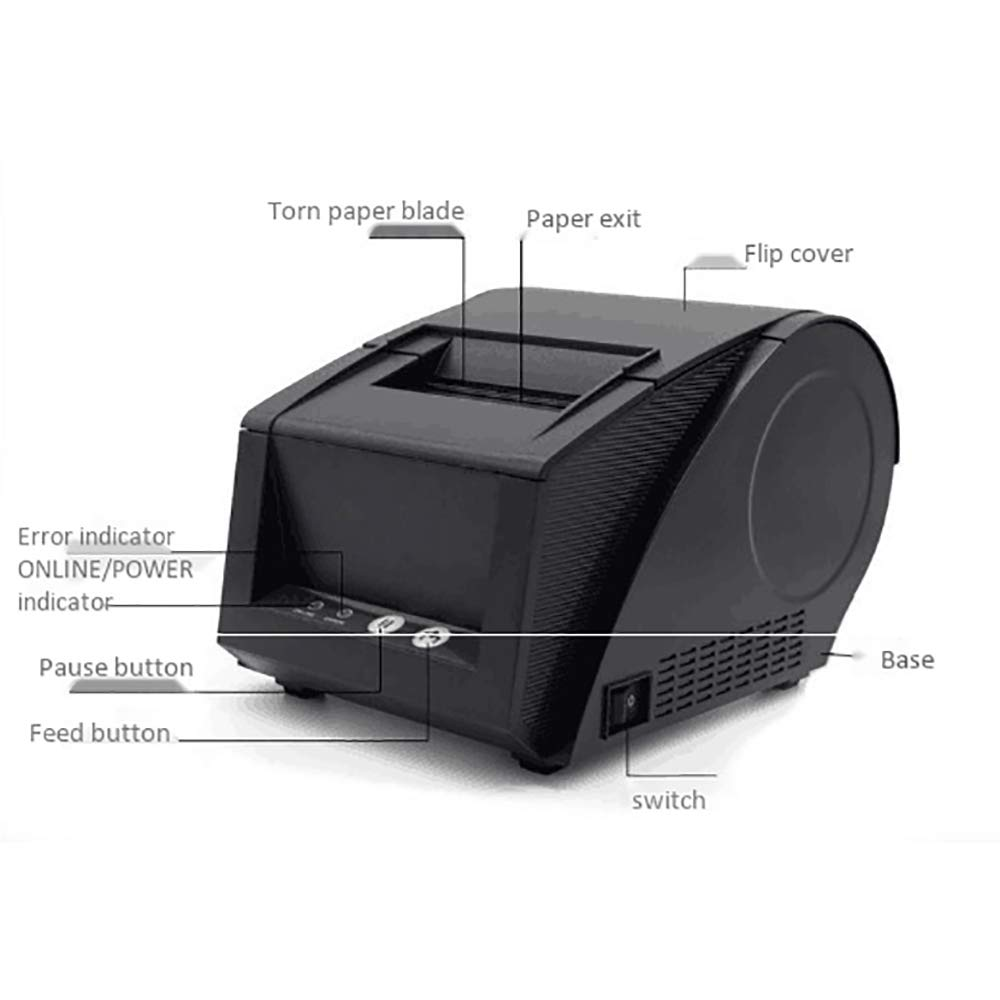 Amazon.com: HERAHQ Mini Portable Thermal Barcode QR Code ...