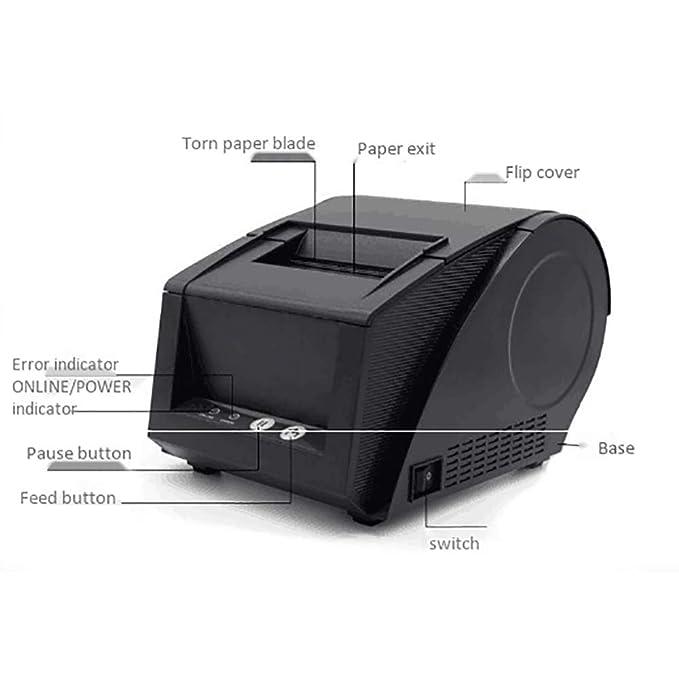 Amazon.com: Mini impresora de código de barras térmica ...