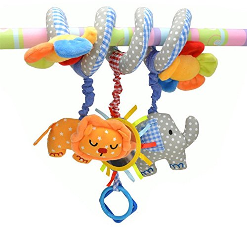 cute lion and elephant polka dot rattles for newborn baby infant music educational toys stroller. Black Bedroom Furniture Sets. Home Design Ideas