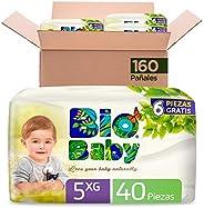 Pañales Bio Baby Talla 5 Extra Grande Unisex, 4 bolsas x 40 piezas
