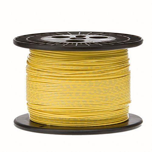 Remington Industries 18UL1007STRYEL500 18 AWG Gauge Stranded Hook Up Wire, 0.0403'' Diameter, 300V, UL1007, 500' Length, Yellow by Remington Industries