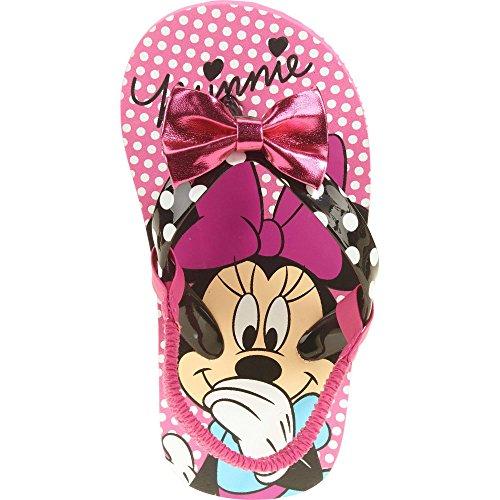 Disney Minnie Mouse Toddler Girls Beach Flip-flop Sandals (Dot Sandals Pink Polka)