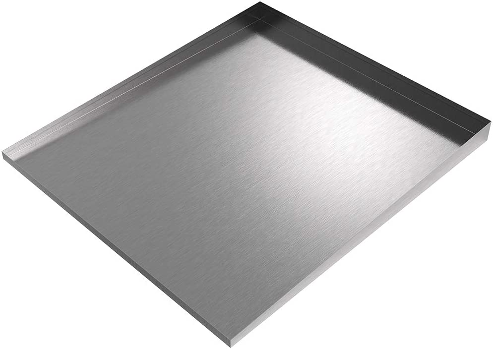 """Front-Load Washer Drip Tray - 36"""" x 32"""" (Stainless Steel)"""