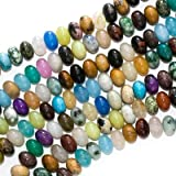 Gemstone Bead Mix 8mm Rondelle Beads 15 Inch Strand