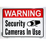 Hillman 843296 Security Cameras in Use Sign, 10 in. x 14 in. (2 Pack)
