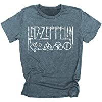 Led Zeppelin 4 Symbols Distressed Hand Drawn Logo Men's T-shirt Tee Rock led zeppelin t shirt logo t shirts for men and women