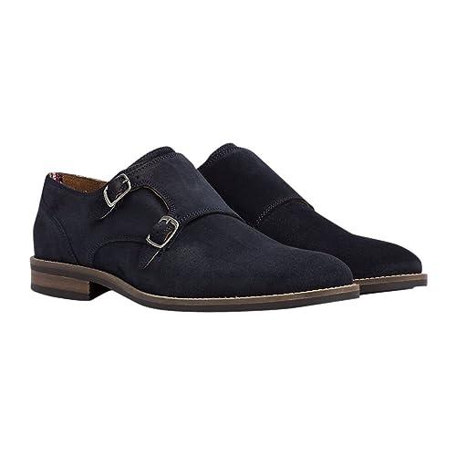 Tommy Hilfiger - Mocasines de Cuero para Hombre Azul Midnight, Color Azul, Talla 46 EU: Amazon.es: Zapatos y complementos