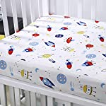 Seben Baby Crib Sheet 2 Pack – 100% Cotton Muslin – Unisex for Boys and Girls (Star and Heart)