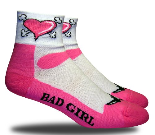 Rhino Socks SS, Bad Girl, pink/white, anklet sports socks