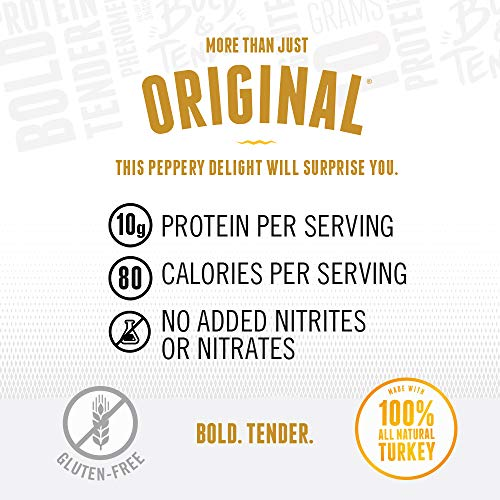 Perky Jerky Gluten Free More Than Just Original Turkey Jerky,  5 Ounce
