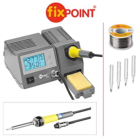 6-piezas Set: Fixpoint Chilitec con 100 G hilo de estaño para soldar y 4 diferentes ...