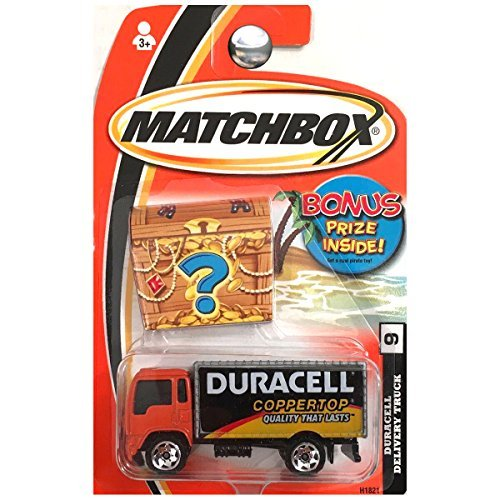 (Matchbox 2005 Treasure Inside Duracell Delivery Truck Coppertop Batteries Semi #9 )