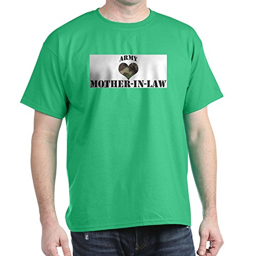 CafePress Mother in Law: Camo Heart Ash Grey T-Shirt 100% Cotton T-Shirt ()