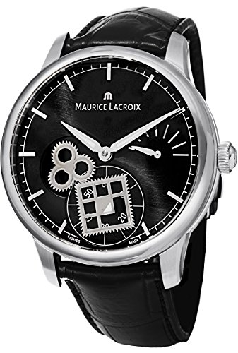 Maurice Lacroix Masterpiece Square Wheel Classic Men's Black Dial Power Reserve Mechanical Swiss Made Watch MP7158-SS001-301 -