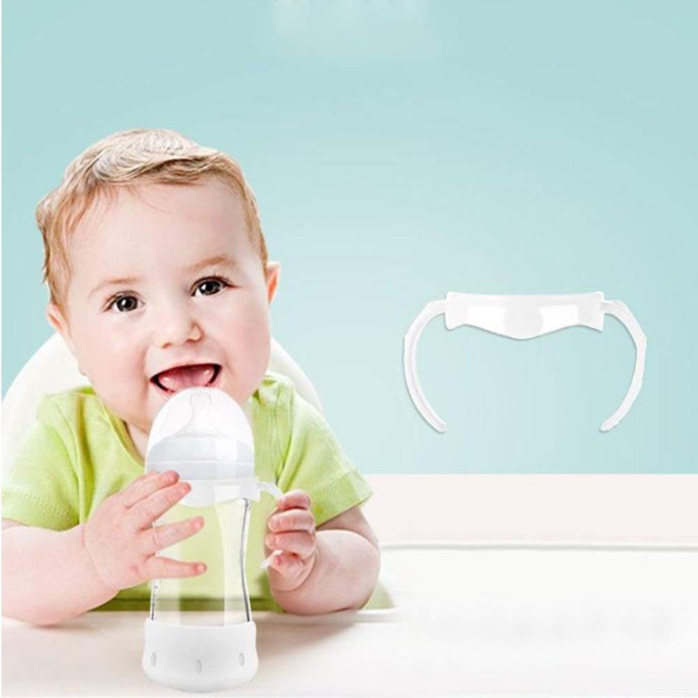 Grauwei? Praktischer Universal-Flaschengriff mit breitem Kaliber zum F/üttern von Babyflaschen-Zubeh?r PP-Flaschengriff